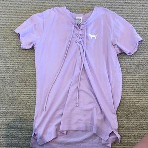 Pink Drawstring t-shirt